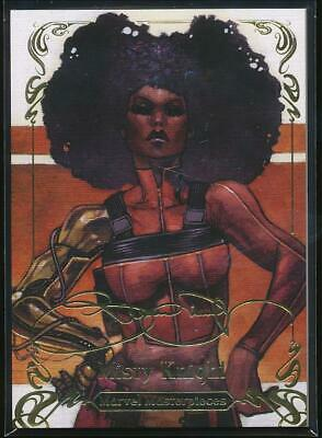 2018 Marvel Masterpieces Gold Foil Trading Card #4 Misty Knight (Tier 1)