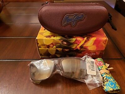 8de23f817382 Maui Jim Red Sands Ht432-10M Polarized Red Tortoise Sunglasses Brand New