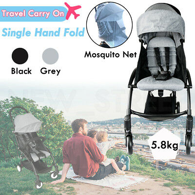 Baby Stroller Pram Pushchair Compact Lightweight Jogger Easy Fold Carry-on Plane