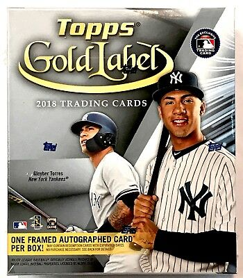 2018 Topps GOLD LABEL Hobby Box - 33 Cards + 1 Framed Auto per box!