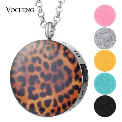 10pcs/lot 30mm Aroma Diffuser Pendant Necklace 316L Stainless Steel VA-791*10
