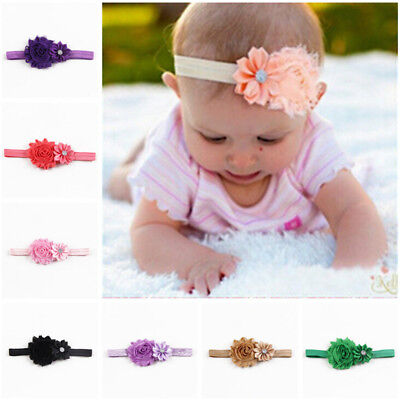 10x Kid Girl Baby Toddler Flower Headband Hair Bow Band Hair Accessories Gift Gr