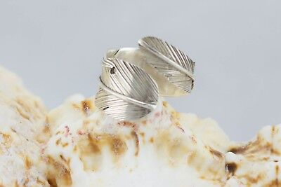 925 Sterling Silver Leaf Ring Size US 7