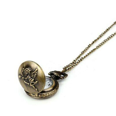 2018 NEW Vintage Charm Unisex Retro Bronze Design Pocket Watch Quartz Pendant Ne