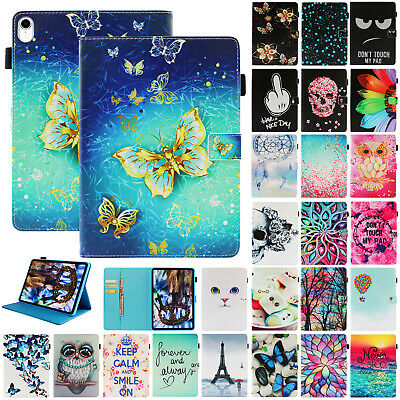 For Apple iPad Pro 11-Inch 2018 Leather Painted Case Smart Magnetic Card Cover