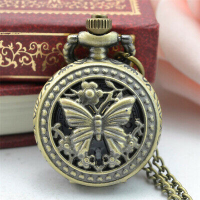 11.11 2017 NEW Vintage Retro Classic Bronze Design Pocket Watch Quartz Pendant N