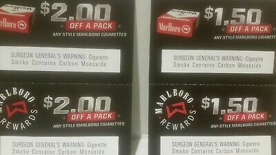 $8 00 SAVINGS ANY Style Marlboro Cigarette Coupons *READ BELOW FOR