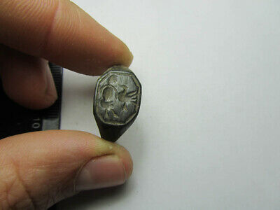 Medieval ring  Warrior & bird.  Metal detector finds 100% original