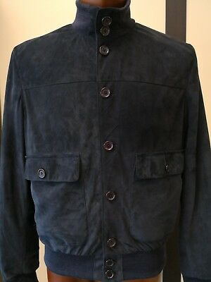 new arrival dd47f 80bcb GIUBBINO GIACCA UOMO vera pelle scamosciata suede jackets for man made in  italy
