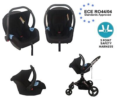 Baby Car Seat Group 0+, 0-12 Months, 0-13 kg, Nomad Black Light weight