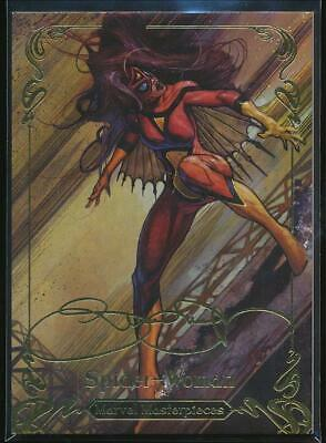 2018 Marvel Masterpieces Gold Foil Trading Card #39 Spider-Woman (Tier 2)