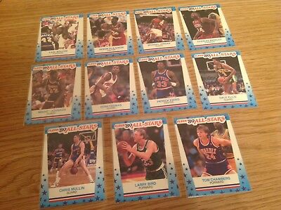 Complete Set 1989Fleer NBA All Star Basketball Trading Cards / Stickers /Inserts