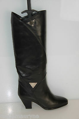 Boots CHARLES JOURDAN Leather All Leather Rigid Black t 5 US / t TOP CONDITION