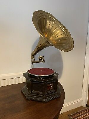 His Masters Voice Gramophone With Brass Horn