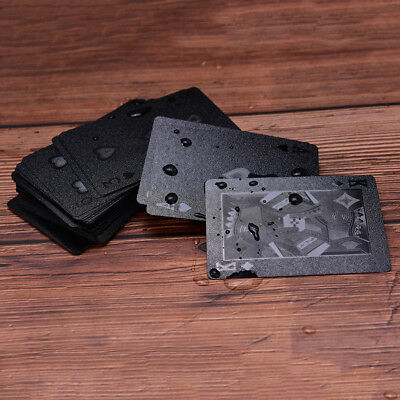 Waterproof Black Plastic Playing Cards Collection Poker Cards Creative GiftVE