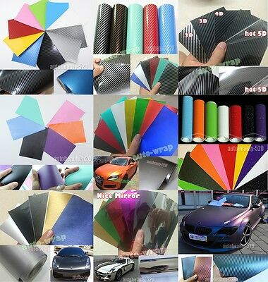 Test Sample - 2D 3D 4D 5D Carbon Fiber Chrome Mirror Matte Vinyl Wrap Sticker AC
