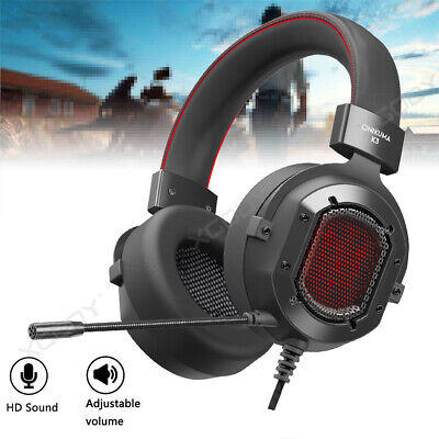 Onikuma Gaming Headset with Mic RGB LED Stereo Kopfhörer for PS4 Xbox One Switch