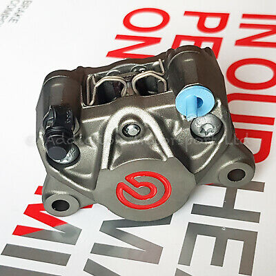 Brembo Racing P2 34 84mm Rear Axial Brake Caliper with Pads,Red Logo -20B85273
