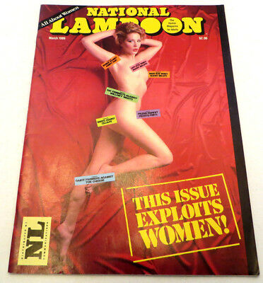 National Lampoon - March 1986 Back Issue - This Issue Exploits Women! Marilyn