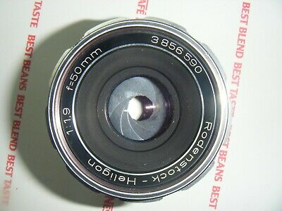 RODENSTOCK-HELIGON 1:1.9 f=50mm LENS M42 Parts or Repair STICKY BLADES