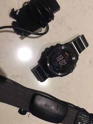 Garmin Fenix 3 Sapphire GPS Multi-sport Training Watch Black with HR strap