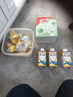 COW & GATE FIRST INFANT MILK STARTER PACK  6 x 70ml, 13 Teats And Three SMA