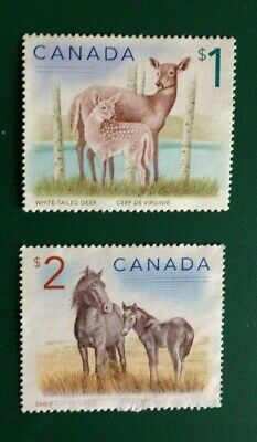 Canada - $1 deer and $2 horses - beautiful used stamps