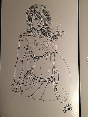 Super Sexy Supergirl 11X17 Art Print Signed By Jesse Wichmann