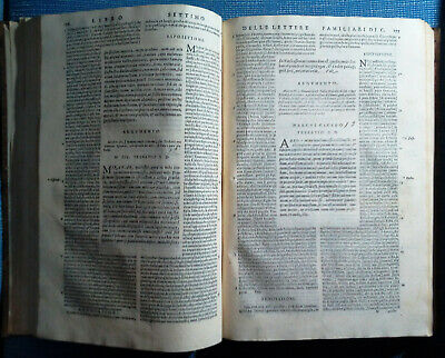 Cicerone Epistole Familiari Venezia, Sessa, 1582, Commenti In Italiano.