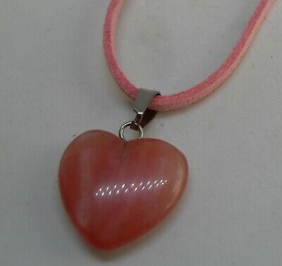 Beautiful Red Agate Stone Pendant on a Suede Cord