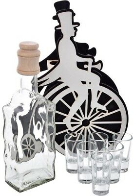 500 Ml Carafe,glass Decanter With 6 Shot Glasses Exposed In Stand,decanter Set