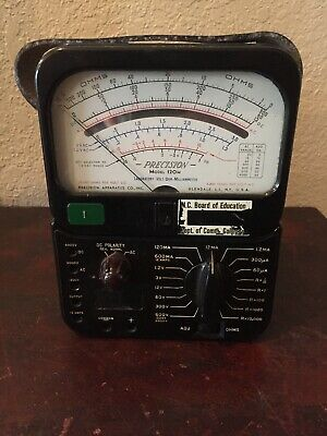 VTG 1950's Precision Apparatus Model 120 120M Multi Range Tester Sensitive VOM