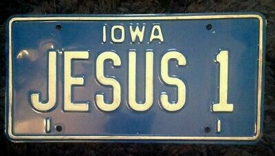 Iowa Vanity Personalized License Plate Jesus 1 Christ Nazareth Christianity God