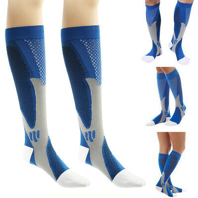 Unisexe Chaussettes Compression Football Sports Courses Gym Respirable Hommes