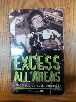 VOX Music Magazine EXCESS ALL AREAS Who's Who Of Rock Depravity Libro EN Inglese