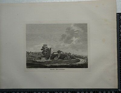 1785 Antique Engraving of Wenslow Dale, Yorkshire