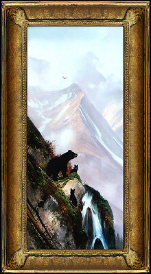 Michael Coleman Original Oil Painting on Board Signed Bear Alaska Landscape Art
