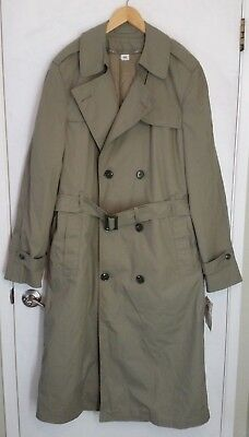 US Marine Corps USMC Uniform Trench Coat All Weather Pewter Overcoat 40XL New