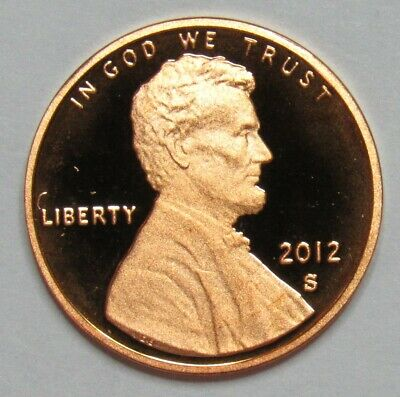 2012 S Proof Lincoln Shield Cent