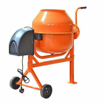 63 L Electric Cement Mixer Tool Portable Concrete Mortar Mixing Machine 250W