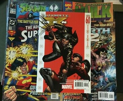 Lot of 119 Comic Books Superman Spider-Man X-Men Stormwatch Full List in Desc