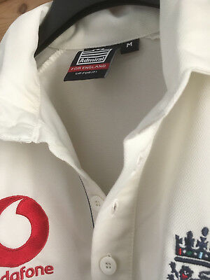 Official licensed England Cricket Replica Shirt Admiral 2006 Size M vintage