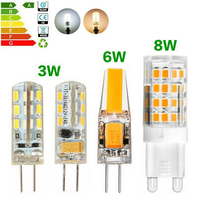 G4 3W 6W 12V Led Bulb G9 8W 220V SMD Lamp Replace Halogen Light Dimmable X5 X10