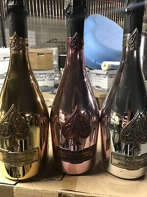 Armand De Brignac collectable Ace Of Spades Champagne Display Bottles Only