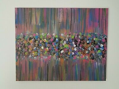 Abstract acrylic painting on canvas, original painting, hand painted, home decor
