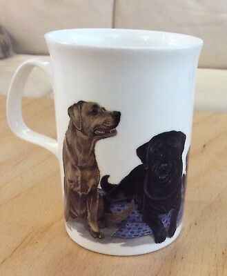 "Vintage Roy Kirkham 1990 ""Dog Lovers Mug"" LABRADORS WITH PUPS"