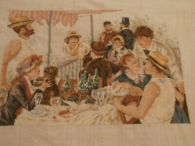 LANARTE RENOIR Luncheon of the Boating Party CROSS STITCH PICTURE completed