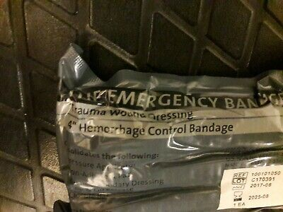 "4"" Israeli Bandage Emergency Trauma Wound Dressing HemCon 2025 NEW"