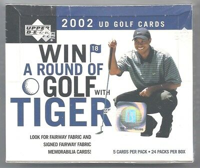 2001 2002 Upper Deck GOLF Masters Champ TIGER WOODS 24 PACK BOX SEALED MINT RARE
