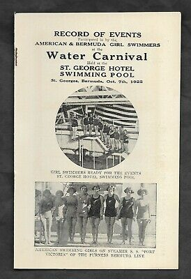 1922 SWIMMING GERTRUDE EDERLE ST GEORGES BERMUDA Photos SYBIL BAUER World Record